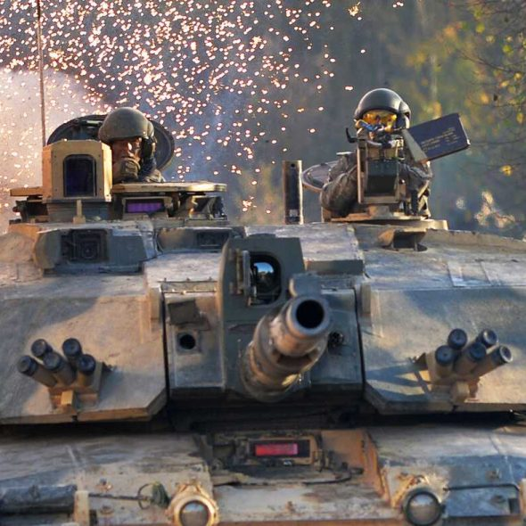 British Army Kings Royal Hussars Challenger 2, Land Combat Power Visit, Copehill Down (Crown Copyright, 2018, OGL)