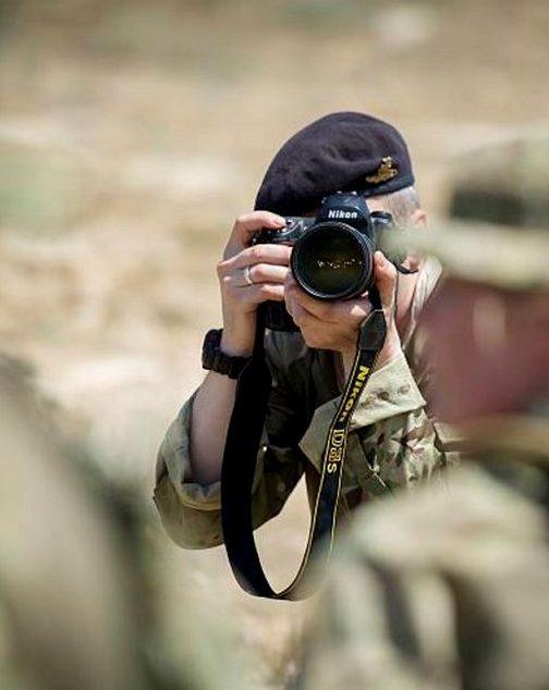 British Army Media Operations Group, Army Reserve photographer, on deployment in Cyprus 2013 (Crown Copyright)