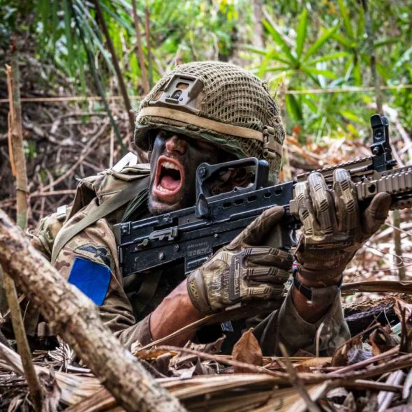 British Army Parachte Regiment 2nd Battalion (2 PARA), A Company, on Ex Mayan Warrior, attack firing (Crown Copyright, 2019) [news][1180]