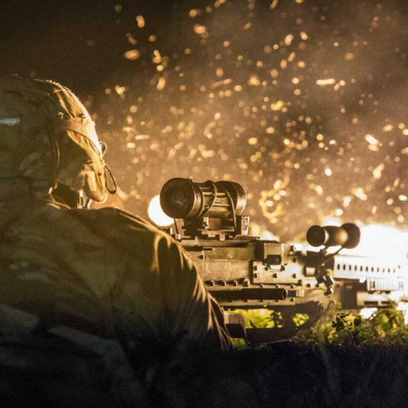 US Army, 143rd Infantry (Airborne) Joint Forcible Entry Exercise, Kelly Drop Zone, Texas, 23-03-19 (Spc Jeffrey Harris) [1180]