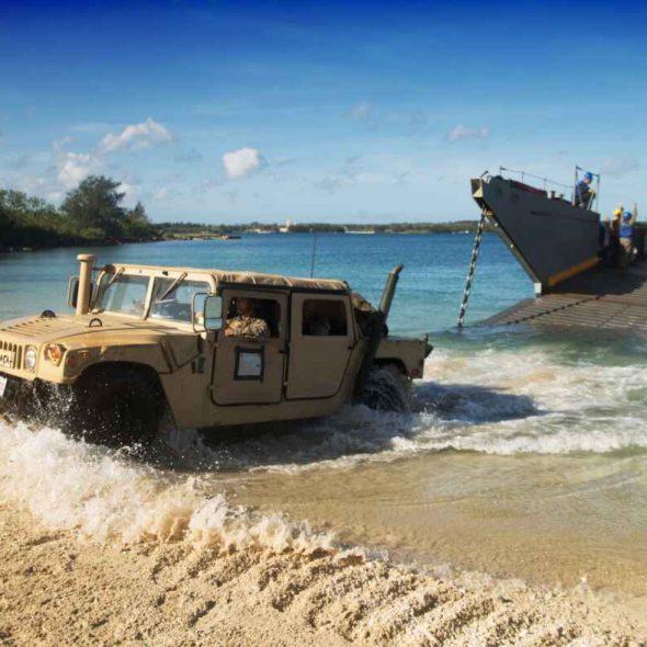 US Marine Corps Combat Logistics Battalion 31st Marine Expeditionary Unit Humvee