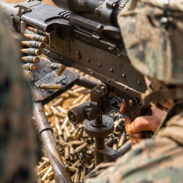 US Marine Corps Combat Logistics Battalion 31, 31st Marine Expeditionary Unit, live firing machine gune (DVIDS, 2019) [1180]