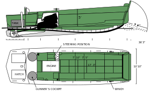US Navy WWII LCVP Higgins Boat schematic